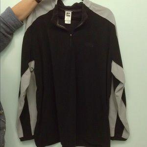 North Face XXL Jacket Sweatshirt Black & Gray Zip